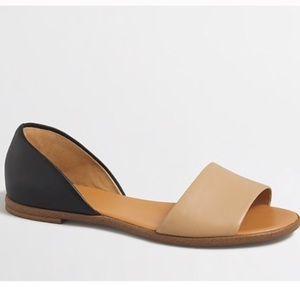 J. Crew Morgan Leather Peep Toe Sandals